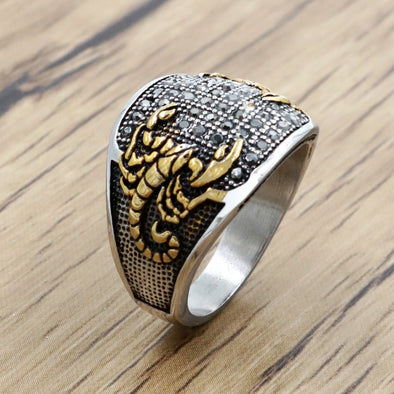 Beautiful Punk Scorpion Ring
