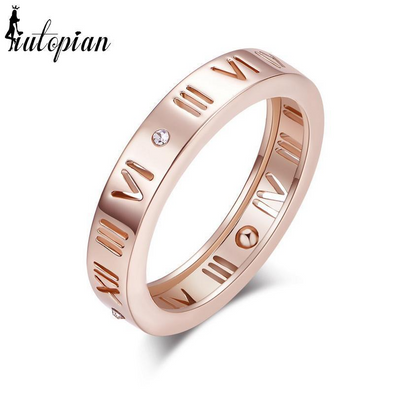 Roman Numeral Ring with Stone
