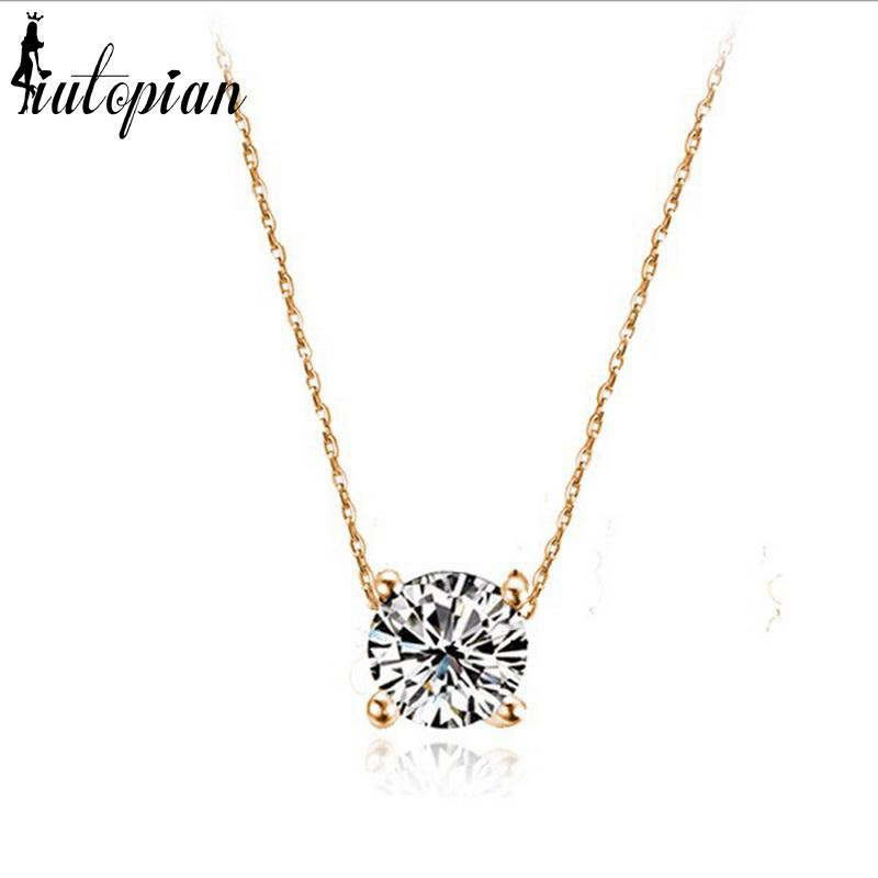 Simple diamond pendant necklace iutopia simple diamond pendant necklace aloadofball Gallery