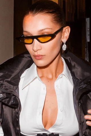 Bella Hadid tiny sunglasses