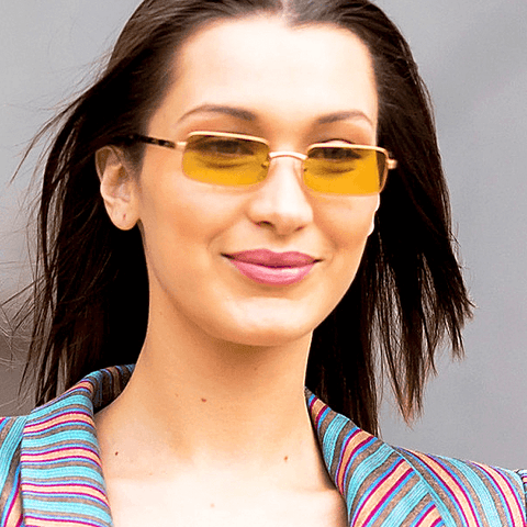 Bella Hadid Yellow Sunglasses