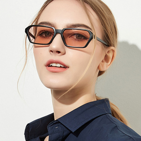 rectangular tinted sunglasses