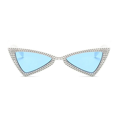 bowtie bling sunglasses blue white