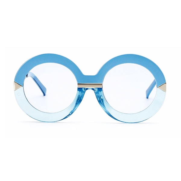 Blue Arrow Round Sunglasses - Youthly Labs
