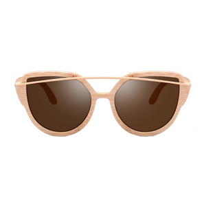 The Balcony Bamboo Sunglasses Brown - Youthly Labs