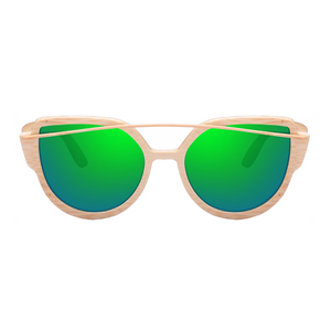 The Balcony Bamboo Sunglasses Green - Youthly Labs