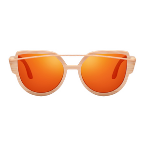 The Balcony Bamboo Sunglasses Orange - Youthly Labs
