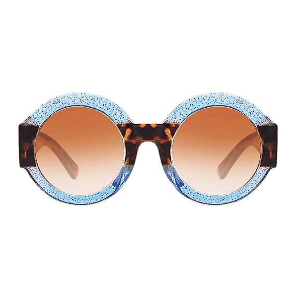The Color Party Sunglasses Blue Leopard - Youthly Labs