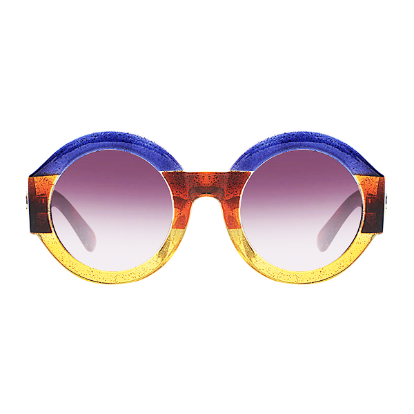 The Color Party Sunglasses Blue Yellow - Youthly Labs