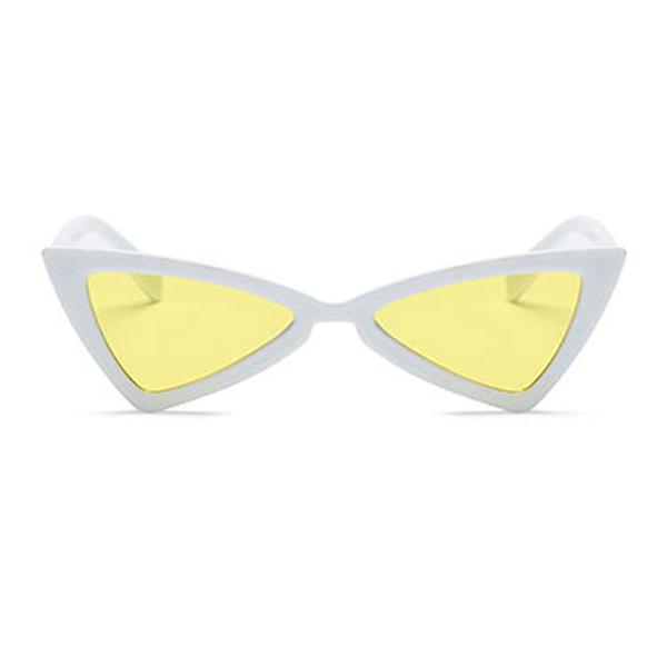 The Bowtie Sunglasses Yellow White - Youthly Labs