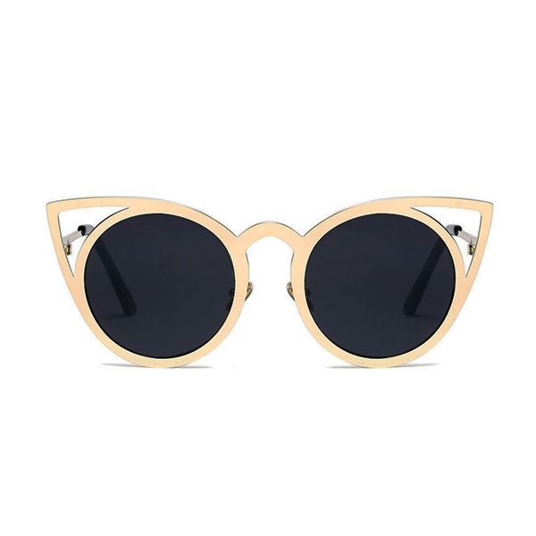 Cat in the Mirror Sunglasses Black Gold - Youthly Labs