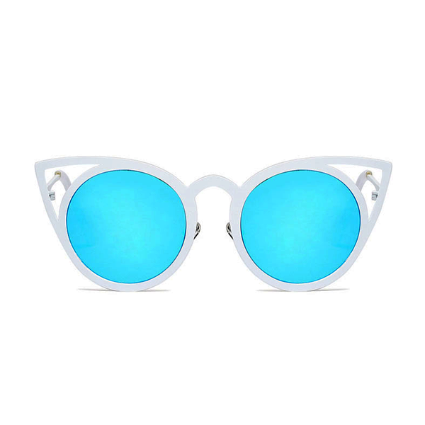 Cat in the Mirror Sunglasses Blue White - Youthly Labs