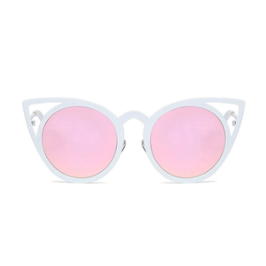 Cat in the Mirror Sunglasses Pink White - Youthly Labs