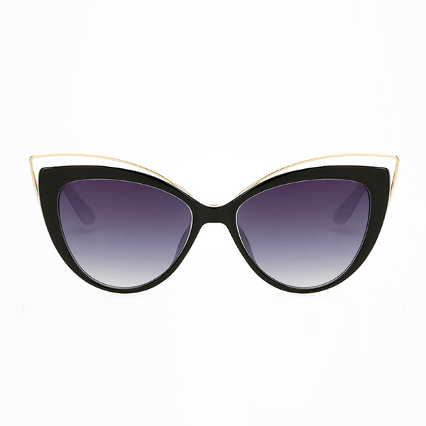 The Charming Cateye Sunglasses White Black - Youthly Labs