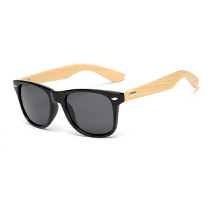 The Classical Bamboo Sunglasses Black - Youthly Labs