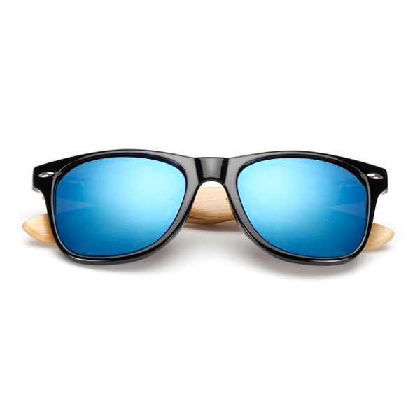 The Classical Bamboo Sunglasses Blue - Youthly Labs