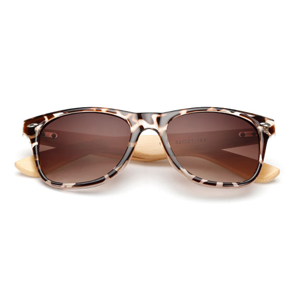 The Classical Bamboo Sunglasses Leopard - Youthly Labs