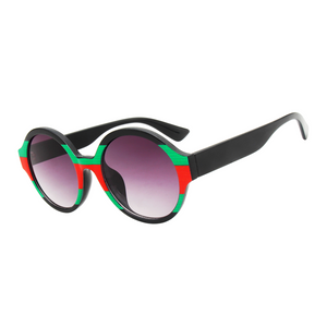 The Color Stripes Sunglasses Green Red - Youthly Labs