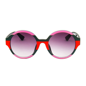 The Color Stripes Sunglasses Pink Red - Youthly Labs