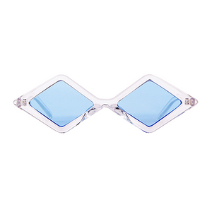 The Cool Diamond Sunglasses Clear Blue - Youthly Labs