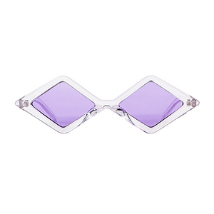 The Cool Diamond Sunglasses Clear Purple - Youthly Labs