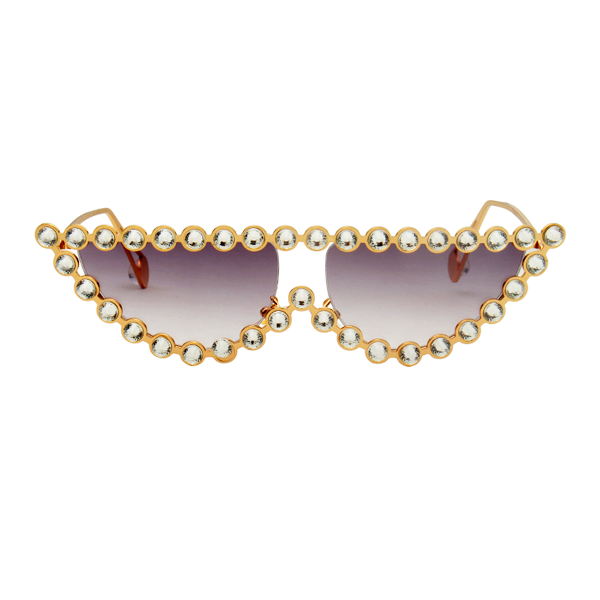 The Crystal Cat Sunglasses Dark Purple - Youthly Labs