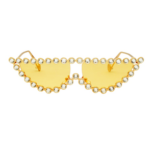 The Crystal Cat Sunglasses Yellow - Youthly Labs