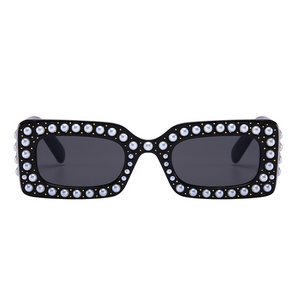 The Embellished Rivets Sunglasses Black - Youthly Labs