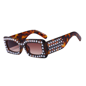 The Embellished Rivets Sunglasses Leopard - Youthly Labs