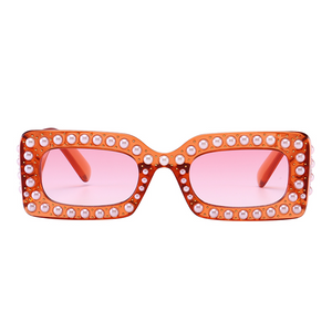 The Embellished Rivets Sunglasses Pink - Youthly Labs
