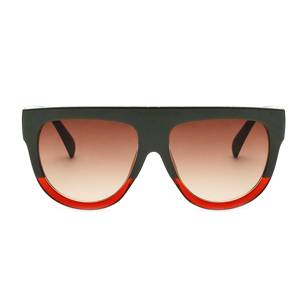 The Flat Top Classic Sunglasses Black Red - Youthly Labs