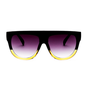 The Flat Top Classic Sunglasses Black Yellow - Youthly Labs