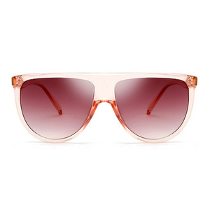 Flat  Top Goddess Sunglasses Clear Pink - Youthly Labs
