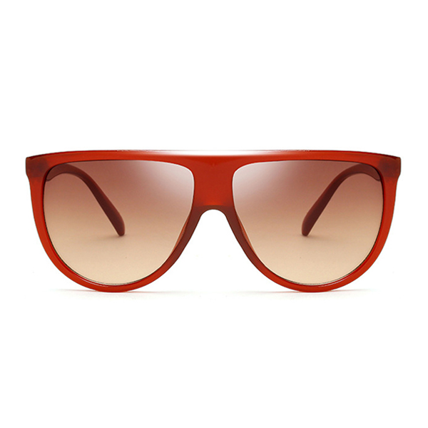 Flat  Top Goddess Sunglasses Red Brown - Youthly Labs