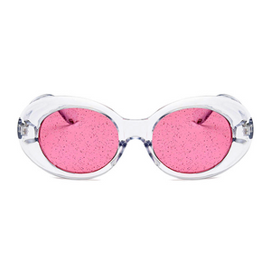 The Flavored Candy Sunglasses Clear Pink - Youthly Labs