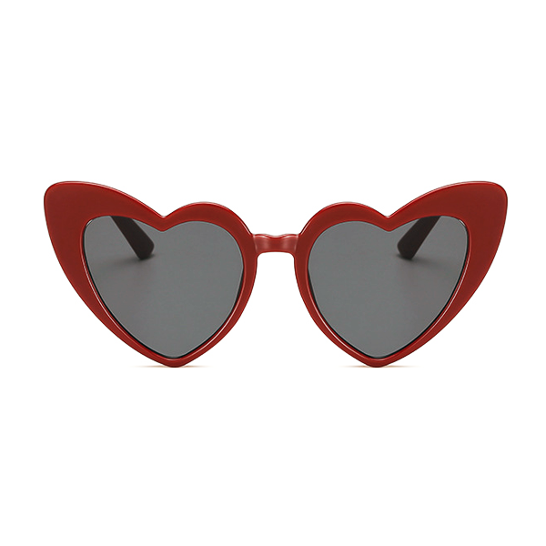 The Funky Heart Sunglasses Red Dark - Youthly Labs