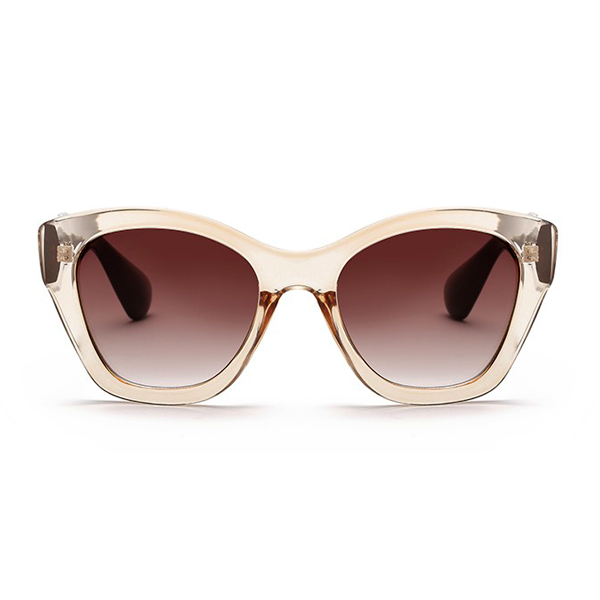 The Getaway Mode Sunglasses Clear Brown - Youthly Labs