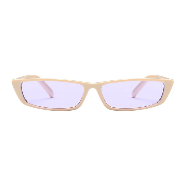 The Upwards Vintage Sunglasses Purple Beige