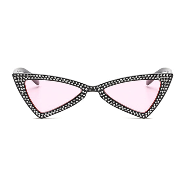 The Bowtie Bling Sunglasses Pink Black - Youthly Labs