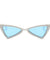 The Bowtie Bling Sunglasses Blue White - Youthly Labs