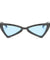 The Bowtie Bling Sunglasses Blue Black - Youthly Labs