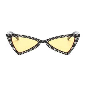 The Bowtie Bling Sunglasses Yellow Black - Youthly Labs