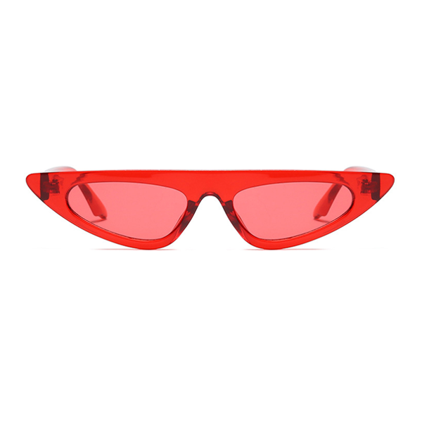 The Horizontal Blade Sunglasses Clear Red - Youthly Labs