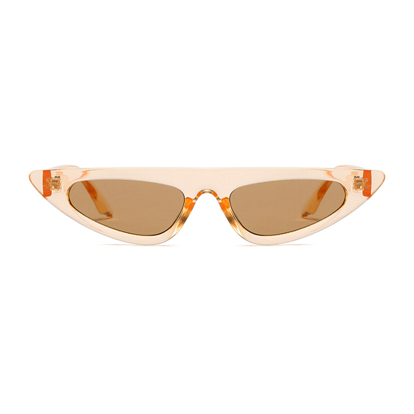 The Horizontal Blade Sunglasses Clear Orange - Youthly Labs