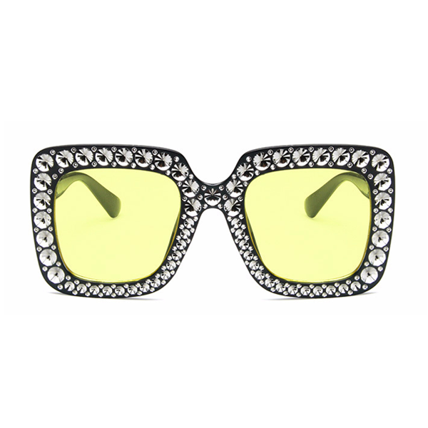 The Jeweler's Daughter Sunglasses Yellow Black - Youthly Labs