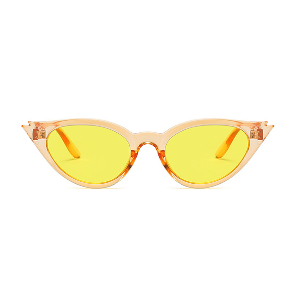 The Kitty Eyelash Sunglasses Clear Yellow - Youthly Labs
