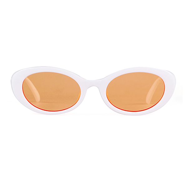 The Lady Cobain Sunglasses White Orange - Youthly Labs