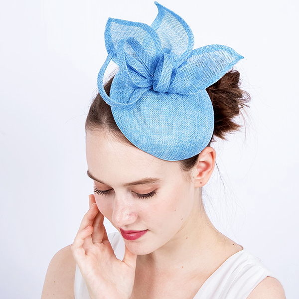 Light Blue Flower Petal Fascinator - Youthly Labs