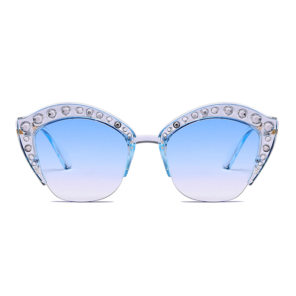 The Lipstick Jungle Sunglasses Blue - Youthly Labs