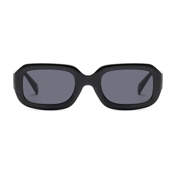 The Long Rectangle Sunglasses Black - Youthly Labs